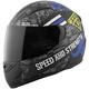 Matte Black/Blue Urge Overkill SS1100 Helmet