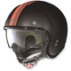 Flat Black/Orange N21 Banner Helmet