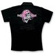 Womens Skull Embroidered Work Shirt