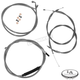 Stainless Braided Handlebar Cable and Brake Line Kit for Use w/12 in. - 14 in. Ape Hangers - LA-8100KT-13