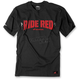 Black/Red Honda Ride Red Bolt T-Shirt