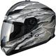 Flat Titanium/White/Black GM78S Firestarter Full Face Helmet