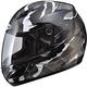Silver/Black/White GM48SPC Shatter Helmet