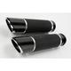 Billet Twin Slash Grips w/ Interchangeable End Caps - 0630-0750
