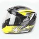 Yellow/Black CS-R2SN MC-3 Seca Helmet with Framed Dual Lens Shield