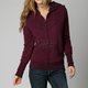 Womens Bordeaux Interface Sherpa Zip Hoody