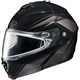 Black/Dark Silver/Silver IS-MAX 2 MC-5 Snowmobile Elemental Helmet w/ Dual Lens Shield
