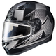 Black/Gray CL-17SN MC-5 Striker Helmet w/Frameless Electric Shield