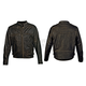 Vintage Black Distressed Crazy Horse Jacket