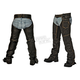 Black Distressed Crazy Horse Unisex Chaps