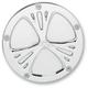 Chrome Deep Cut Ness-Tech Retro Derby Cover - 03-570