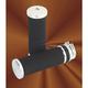 Chromed Full Rubber Billet Grips - 7-32