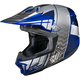 Blue/Gray/Silver CL-X7 Cross-Up MC-2 Helmet