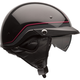 Black/Dark Red Pin Pit Boss Helmet