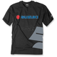 Black Suzuki Big S T-Shirt