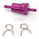 5/16 in. Purple Anodized Aluminum Fuel Filter - 14-34433