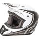 Matte White/Black Kinetic Fullspeed Helmet