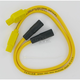 8mm Pro Yellow Spark Plug Wires w/180 Degree Boot - 20434
