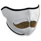 White Mustache Half Face Mask - WNFM163H