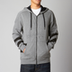 Heather Graphite Rebate Zip Hoody