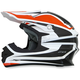 Orange/White FX-21 Alpha Helmet