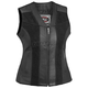 Womens Black Santa Rosa Leather Vest