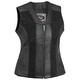 Womens Black Santa Rosa Leather Vest