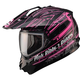 Matte Black/White/Pink GM11S Pink Ribbon Snow Sport Snowmobile Helmet
