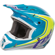 Blue/Hi-Vis/White Kinetic Fullspeed Helmet