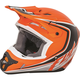Youth Matte Orange/Black Kinetic Fullspeed Helmet