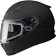 Flat Black FF49 Snowmobile Helmet