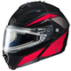 Black/Red/Silver IS-MAX 2 MC-1 Elemental Snowmobile Helmet w/Electric Shield