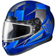 Blue/Black CL-17SN MC-2 Striker Helmet w/Frameless Dual Lens Shield