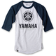 Gray/Navy Blue Yamaha Baseball T-Shirt