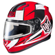 Red/White/Black CL-17SN MC-1 Striker Helmet w/Frameless Electric Shield