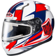Red/White/Blue CL-17SN MC-1H Striker Helmet w/Frameless Electric Shield