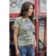 Womens Lite Olive Aviator T-Shirt