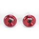 Red Aluminum End Plugs - F71APR