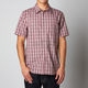 Tibetan Red Control Button Down Short Sleeve Shirt