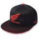 Black Honda Wing Flex-Fit Hat