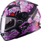Youth Black/Purple GM49Y Attack Snowmobile Helmet