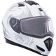 Matte White Tranz RSV Blast Modular Snow Helmet w/Electric Shield
