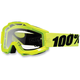 Fluorescent Yellow Accuri Motocross Goggles w/Clear Lens - 50200-004-02