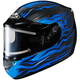 Black/Blue CS-R2SN MC-2 Flame Block Helmet w/Electric Shield