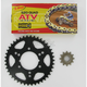 520 Quad Z-Ring Chain and Sprocket Kit - 5QUAD088KPO0