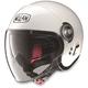 Metalllic White N21 Visor Helmet