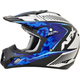 Pearl White/Blue/Light Blue Complex FX-17 Factor Helmet