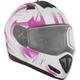 Matte White/Pink Tranz RSV Blast Mat Modular Snow Helmet