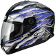 Blue/White/Black GM78S Firestarter Full Face Helmet