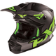 Matte Charcoal/Green Blade Clutch Solid Helmet